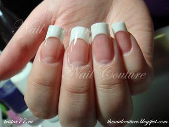 наращивание ногтей акрилом и гелем на формах моделям