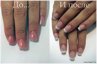 коррекция ногтей бесплатно, коррекция ногтей акрил и гель, откорректировать ногти