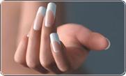 наращивание френч в качестве модели, нарастить ногти как модель