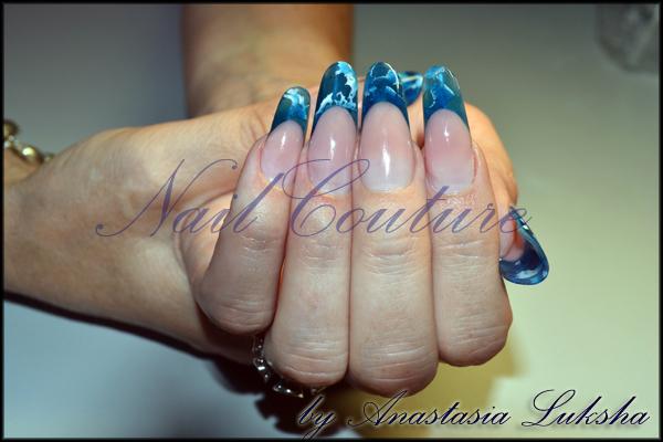 Витрaжные ногти фото ногти фото